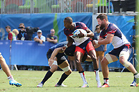 August 09, 2016; Rio de Janeiro, Brazil; USA Men's Eagles Sevens Perry Baker in action against Argentina during the Men's Rugby Sevens Pool A match on Day 4 of the Rio 2016 Olympic Games at Deodoro Stadium. Photo credit: Abel Barrientes - KLC fotos
