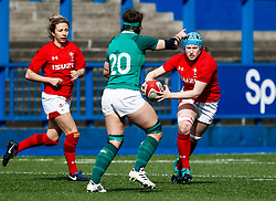 Gwen Crabb of Wales on the charge<br /> <br /> Photographer Simon King/Replay Images<br /> <br /> Six Nations Round 5 - Wales Women v Ireland Women- Sunday 17th March 2019 - Cardiff Arms Park - Cardiff<br /> <br /> World Copyright © Replay Images . All rights reserved. info@replayimages.co.uk - http://replayimages.co.uk