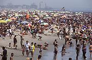 Coney Island Beach in the 1980's, Brooklyn, New York