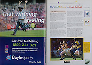 All Ireland Senior Hurling Championship Final,.08.09.2002, 09.08.2002, 8th September 2002,.Senior Kilkenny 2-20, Clare 0-19,.Minor Kilkenny 3-15, Tipperary 1-7,.8092002AISHCF,.Boylesports, .
