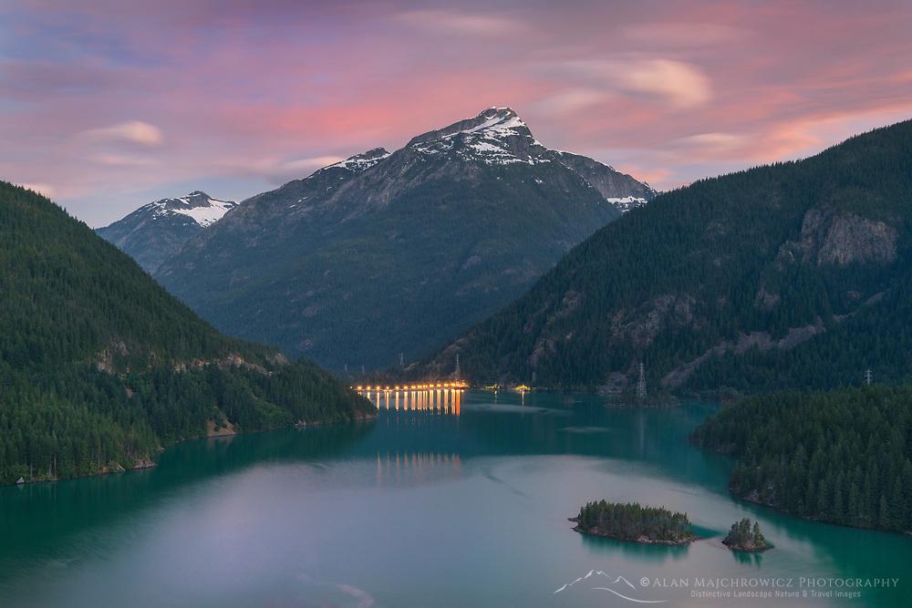 Diablo Lake and Davis Peak, Ross Lake National Recreation Area. North Cascades Washington