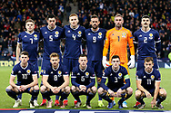 Scotland team picture before the UEFA Nations League match between Scotland and Israel at Hampden Park, Glasgow, United Kingdom on 20 November 2018.