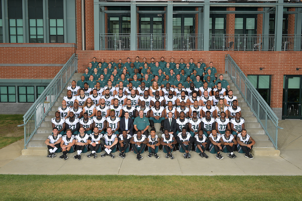 The 2016 Philadelphia Eagles team photograph and portraits at the NovaCare Complex on September 18, 2016 in Philadelphia, Pennsylvania.  (Photo by Drew Hallowell/Philadelphia Eagles)