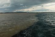 Rio Motagua meeting ocean<br /> Quetzalito<br /> Guatemala<br /> Central America