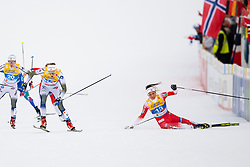 February 21, 2019 - Seefeld In Tirol, AUSTRIA - 190221 Kristine StavÅ's Skistad (R) of Norway falls behind Stina Nilsson (L) of Sweden when competing in women's cross-country skiing sprint semifinal during the FIS Nordic World Ski Championships on February 21, 2019 in Seefeld in Tirol..Photo: Joel Marklund / BILDBYRN / kod JM / 87879 (Credit Image: © Joel Marklund/Bildbyran via ZUMA Press)