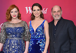 February 19, 2019 - Beverly Hills, California, U.S. - Christina Hendricks, Janie Bryant and Matt Weiner arrives for the 21st CDGA (Costume Designers Guild Awards) at the Beverly Hilton Hotel. (Credit Image: © Lisa O'Connor/ZUMA Wire)