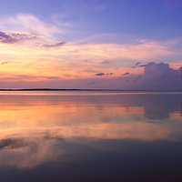 """""""Pastel Majesty""""<br /> <br /> Wonderful pastel hues, clouds, and reflections at sunset!<br /> <br /> Sunset Images by Rachel Cohen"""