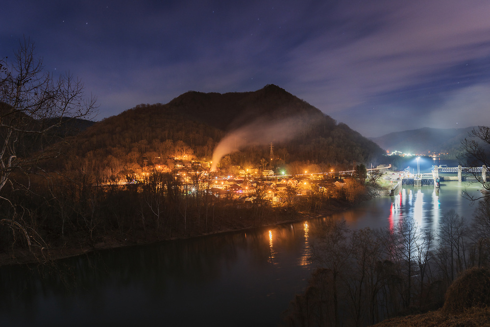 The town, dam and locks of London. Kanawha County, West Virginia.