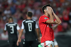 August 21, 2018 - Lisbon, Portugal - Benfica's Portuguese midfielder Pizzi reacts after missing an opportunity to score during the UEFA Champions League play-off first leg match SL Benfica vs PAOK FC at the Luz Stadium in Lisbon, Portugal on August 21, 2018. (Credit Image: © Pedro Fiuza via ZUMA Wire)