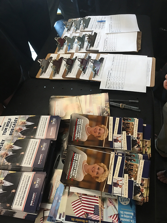 Election brochure, Pennsylvania Democratic Governor Wolf and US Representative, Chrissy Houlihan, Reading rally, Berks Co., PA