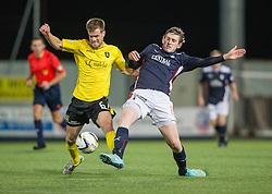 Livingston Kyle Jacobs and Falkirk's Blair Alston.<br /> Falkirk 0 v 0  Livingston, Scottish Championship game played 21/10/2014 at The Falkirk Stadium.
