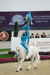 Ecurie De La Cigogne Team, (FRA), Watriano R<br /> Female Squad Final Freestyle Test<br /> FEI European Championships - Aachen 2015<br /> © Hippo Foto - Dirk Caremans<br /> 23/08/15