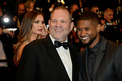 Harvey Weinstein, Usher Raymond IV attending the Hands Of Stone premiere during the 69th Cannes Film Festival on May 16, 2016 in Cannes, France. Photo by Julien Zannoni/APS-Medias/ABACAPRESS.COM    547106_023 Cannes France
