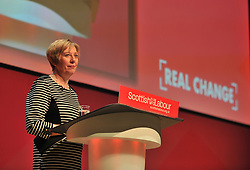 Shadow Scottish Secretary and interim Deputy Leader Lesley Laird delivers her keynote speech at the Scottish Labour conference at the Caird Hall in Dundee.<br /> <br /> © Dave Johnston / EEm