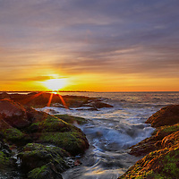 Rhode Island sunrise photography pictures are available for image licensing and as museum quality photography prints, canvas prints, acrylic prints, wood prints or metal prints. Wall art prints may be framed and matted to the individual liking and room decor needs:<br /> <br /> http://juergen-roth.pixels.com/featured/sunrise-at-beavertail-state-park-juergen-roth.html<br /> <br /> Beautiful coastal New England sunrise seascape photography showing the unique Rhode Island seacoast at Beavertail State Park in Jamestown, RI. Beavertail State Park provides some of the most beautiful vistas along the New England coastline. The Ocean State is a heaven for macro, seascape, and landscape photography, especially during sunrise, sunset and the light of the golden hours when skies are painted  in amazing hues and bring out the beauty Beavertail Point.<br /> <br /> Good light and happy photo making! <br /> <br /> My best, <br /> <br /> Juergen <br /> Image Licensing: http://www.RothGalleries.com <br /> Fine Art Prints: http://fineartamerica.com/profiles/juergen-roth.html <br /> Photo Blog: http://whereintheworldisjuergen.blogspot.com <br /> Twitter: https://twitter.com/naturefineart <br /> Facebook: https://www.facebook.com/naturefineart <br /> Instagram: https://www.instagram.com/rothgalleries