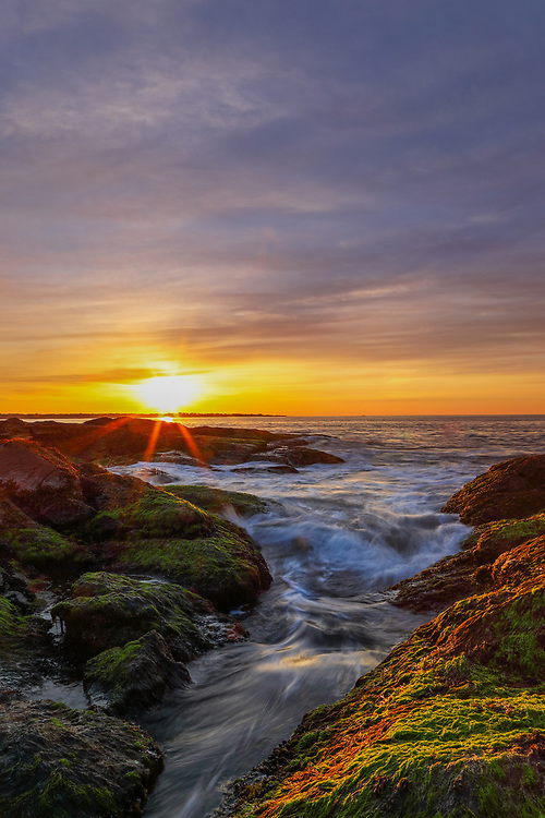 Rhode Island sunrise photography pictures are available for image licensing and as museum quality photography prints, canvas prints, acrylic prints, wood prints or metal prints. Wall art prints may be framed and matted to the individual liking and room decor needs:<br />