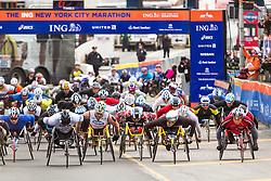 ING New York CIty Marathon: start of the wheelchair division