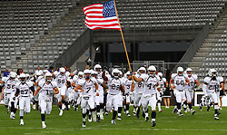 10.07.2011, Tivoli Stadion, Innsbruck, AUT, American Football WM 2011, Group A, Germany (GER) vs United States of America (USA), im Bild team USA enters the field // during the American Football World Championship 2011 Group A game, Germany vs USA, at Tivoli Stadion, Innsbruck, 2011-07-10, EXPA Pictures © 2011, PhotoCredit: EXPA/ T. Haumer