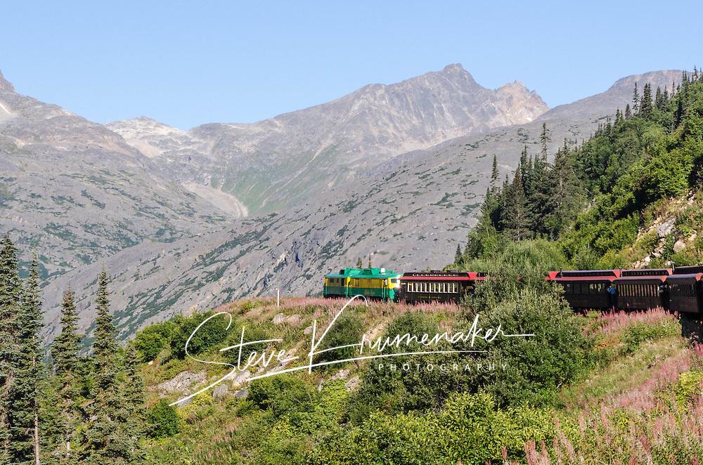 Train ride along the Klondike Trail, Skagway, AK