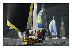 Sailing - The 2007 Bell Lawrie Scottish Series hosted by the Clyde Cruising Club, Tarbert, Loch Fyne..Day 2 racing with light to medium winds from the North west..Hamish McKay and crew on the J92S True Love, in Class three. IRC Class 3 True Love GBR4992.