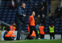 Blackburn Rovers manager Gary Bowyer shouts instructions to his team from the dug-out<br /> <br /> Photographer Kevin Barnes/CameraSport<br /> <br /> Football - The FA Cup Fifth Round - Blackburn Rovers v Stoke City - Saturday 14th February 2015 -  Ewood Park - Blackburn<br /> <br /> © CameraSport - 43 Linden Ave. Countesthorpe. Leicester. England. LE8 5PG - Tel: +44 (0) 116 277 4147 - admin@camerasport.com - www.camerasport.com