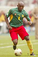 FOTBALL - CONFEDERATIONS CUP 2003 - GROUP B - KAMERUN V TYRKIA - 030621 - GEREMI (CAM) - PHOTO STEPHANE MANTEY / DIGITALSPORT