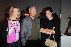 Private View of the Pavilion of Art & Design London 2010 held in Berkeley Square, London on 11th October 2010.<br /> Picture Shows:- SARAH ORECCLIA, LARRY GAGOSIAN and ELIZABETH SALTZMAN