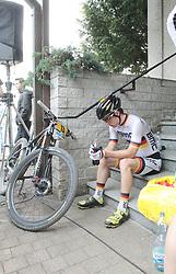 01.06.2014, Bullentaele, Albstadt, GER, UCI Mountain Bike World Cup, Cross Country Herren, im Bild Moritz Milatz Deutschland nach dem rennen // during Mens Cross Country Race of UCI Mountainbike Worldcup at the Bullentaele in Albstadt, Germany on 2014/06/01. EXPA Pictures © 2014, PhotoCredit: EXPA/ Eibner-Pressefoto/ Langer<br /> <br /> *****ATTENTION - OUT of GER*****