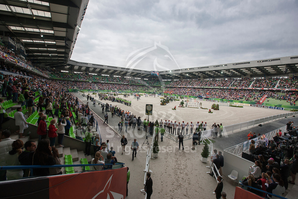 Overview prizegiving - Jumping Second Round Team Competition - Alltech FEI World Equestrian Games™ 2014 - Normandy, France.<br /> © Hippo Foto Team - Dirk Caremans<br /> 04/09/14