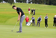 Jake Whelan (MU) puts to win on the 18th green during the Final of the AIG Senior Cup at the AIG Cups & Shields National Finals in Carton House, Maynooth, Co. Kildare on the 19/09/15.<br /> Picture: Thos Caffrey | Golffile