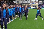 AFC Wimbledon youth teamduring the EFL Sky Bet League 1 match between AFC Wimbledon and Gillingham at the Cherry Red Records Stadium, Kingston, England on 23 March 2019.