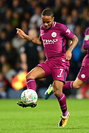 Raheem Sterling of Manchester City in action  .Carabao Cup 3rd round match, West Bromwich Albion v Manchester City at the Hawthorns stadium in West Bromwich, Midlands on Wednesday 20th September 2017. pic by Bradley Collyer, Andrew Orchard sports photography.