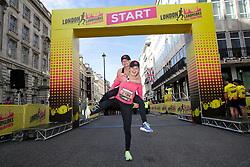 Aimee Fuller on the start line during the 2019 London Landmarks Half Marathon.