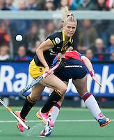 DEN BOSCH - Sian Keil van Den Bosch tijdens de  de tweede finale wedstrijd tussen de vrouwen van Den Bosch en SCHC (2-0)  . Den Bosch behoudt de titel. . COPYRIGHT  KOEN SUYK