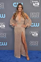 Heidi Klum at The 23rd Annual Critics' Choice Awards held at the Barker Hangar on January 11, 2018 in Santa Monica, CA, USA (Photo by Sthanlee B. Mirador/Sipa USA)