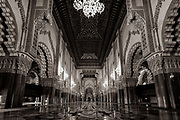 Inside the third largest mosque in the world. Casablanca, Morocco.gg