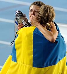 01-08-2010 ATLETIEK: EUROPEAN ATHLETICS CHAMPIONSHIPS: BARCELONA<br /> Blanka VLASIC (CRO) - Winner High Jump Final and Emma GREEN (SWE) - Silver Medal <br /> ©2010-WWW.FOTOHOOGENDOORN.NL