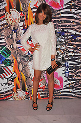 CLAUDIA WINKLEMAN at the launch of Project PEP to benefit the Elton John Aids Foundation hosted by Tamara Mellon and Diana Jenkins in association with Jimmy Choo held at Selfridges, Oxford Street, London on 29th October 2009.