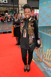 Yolanda Brown arriving at The opening night of Wind in The Willows at the London Palladium, Argyll Street, London England. 29 June 2017.<br /> Photo by Dominic O'Neill/SilverHub 0203 174 1069 sales@silverhubmedia.com