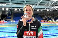 PELLEGRINI Federica Italy ITA Silver Medal <br /> Women's 200m Freestyle <br /> Glasgow 07/12/2019<br /> XX LEN European Short Course Swimming Championships 2019<br /> Tollcross International Swimming Centre<br /> Photo Andrea Staccioli / Deepbluemedia / Insidefoto