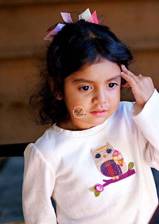 Dark eyed young girl