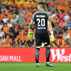 BRISBANE, AUSTRALIA - OCTOBER 30: Dean Bouzanis of Melbourne looks on during the round 5 Hyundai A-League match between the Brisbane Roar and Melbourne City at Suncorp Stadium on November 4, 2016 in Brisbane, Australia. (Photo by Patrick Kearney/Brisbane Roar)