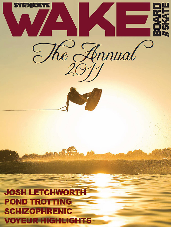 Sam Carne on the cover of 2011 Syndicate Wake magazine Photo Annual.