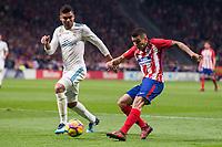 Atletico de Madrid Angel Martin Correa and Real Madrid Carlos Henrique Casemiro during La Liga match between Atletico de Madrid and Real Madrid at Wanda Metropolitano in Madrid, Spain. November 18, 2017. (ALTERPHOTOS/Borja B.Hojas)