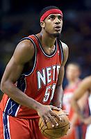Basketball<br /> NBA<br /> Foto: Dppi/Digitalsport<br /> NORWAY ONLY<br /> <br /> BASKETBALL - NBA - BOSTON (USA) - TD BANKNORTH GARDEN - 14/11/2007<br /> <br /> BOSTON CELTICS (WINNER 91-69) V NEW JERSEY NETS<br /> SEAN WILLIAMS (51) (NEW JERSEY NETS)
