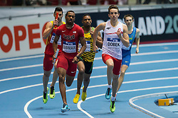 08.03.2014, Ergo Arena, Sopot, POL, IAAF, Leichtathletik Indoor WM, Sopot 2014, im Bild PATRYK DOBEK 4X400 m // PATRYK DOBEK 4X400 m during day two of IAAF World Indoor Championships Sopot 2014 at the Ergo Arena in Sopot, Poland on 2014/03/08. EXPA Pictures © 2014, PhotoCredit: EXPA/ Newspix/ Radoslaw Jozwiak<br /> <br /> *****ATTENTION - for AUT, SLO, CRO, SRB, BIH, MAZ, TUR, SUI, SWE only*****