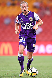 January 18, 2018 - Brisbane, QUEENSLAND, AUSTRALIA - Joseph Mills of the Glory (#16) in action during the round seventeen Hyundai A-League match between the Brisbane Roar and the Perth Glory at Suncorp Stadium on January 18, 2018 in Brisbane, Australia. (Credit Image: © Albert Perez via ZUMA Wire)