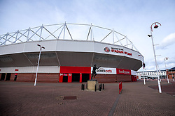 A general view of The Stadium of Light, home to Sunderland ahead of the first game of the Sky Bet League One season and the first game back since the Covid-19 Pandemic outbreak, meaning games are played behind closed doors - Mandatory by-line: Robbie Stephenson/JMP - 12/09/2020 - FOOTBALL - Stadium of Light - Sunderland, England - Sunderland v Bristol Rovers - Sky Bet League One
