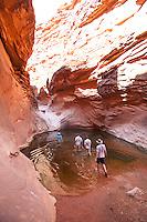 Goup of people hiking side canyon. Grand Canyon National Park, AZ.