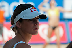 Red Bull hostess at A1 Beach Volleyball Grand Slam tournament of Swatch FIVB World Tour 2011, on August 5, 2011 in Klagenfurt, Austria. (Photo by Matic Klansek Velej / Sportida)